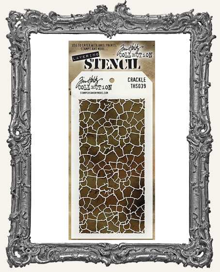 Tim Holtz Layering Stencils - CRACKLE