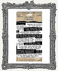 Tim Holtz - Idea-ology - Big Talk Stickers Tablet - Snarky