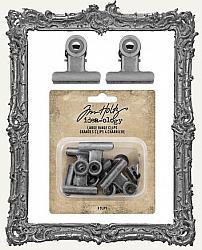 Tim Holtz - Idea-ology - Large Metal Hinge Clip 8 per Pkg