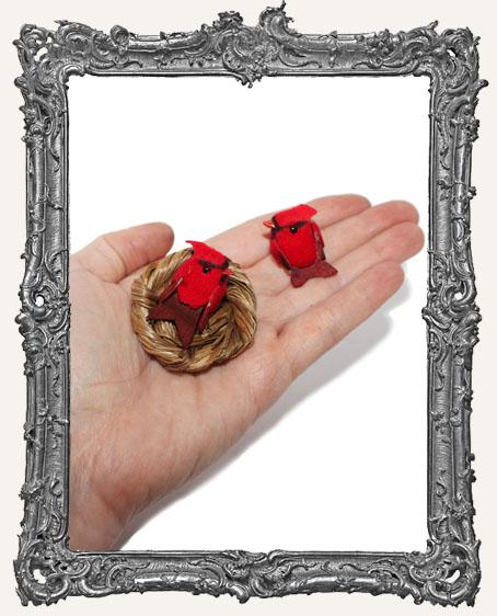 Mini 1 Inch Cardinals - Set of 2