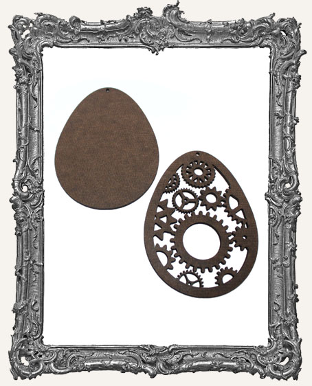 Layered Masonite Steampunk Egg Ornament