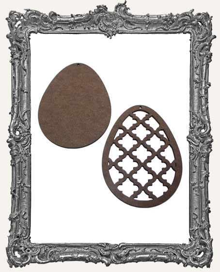 Layered Masonite Ornate Egg Ornament - Style 1