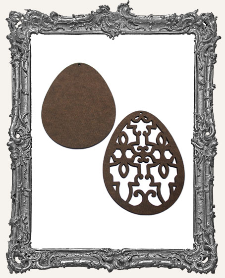 Layered Masonite Ornate Egg Ornament - Style 3