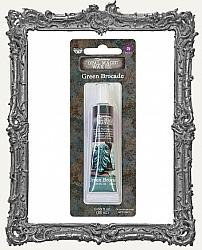 Finnabair - Art Alchemy - Opal Magic Wax - Green Brocade - Tube Packaging