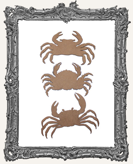 Chipboard Crabs - Set of 3