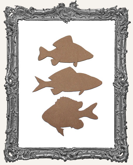 Chipboard Fish - Set of 3