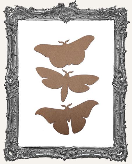 Chipboard Moths - Set of 3
