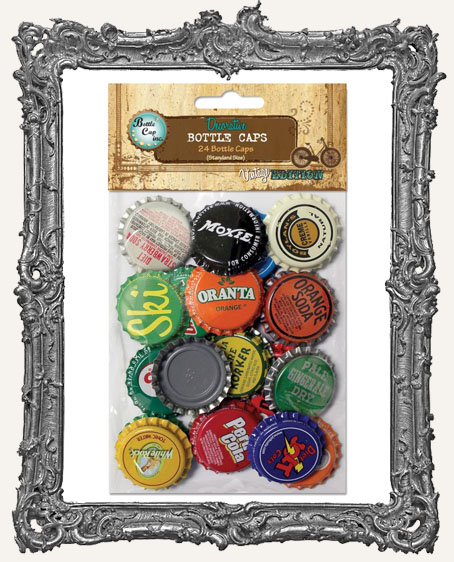"Vintage Collection Standard Vintage Bottle Caps 1"" 24/Pkg"
