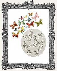Small Grey Silicone Mold - Little Fancy Butterflies