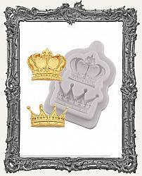 Small Grey Silicone Mold - Two Fancy Crowns