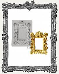 Small Grey Silicone Mold - Rectangle Baroque Frame