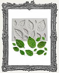 Small Grey Silicone Mold - Leaf Set