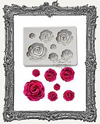 Small Grey Silicone Mold - Rose Set