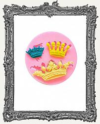 Small Pink Silicone Mold - Three Little Crowns