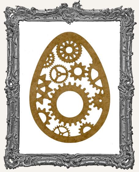 LARGE Steampunk Egg Mask Stencil