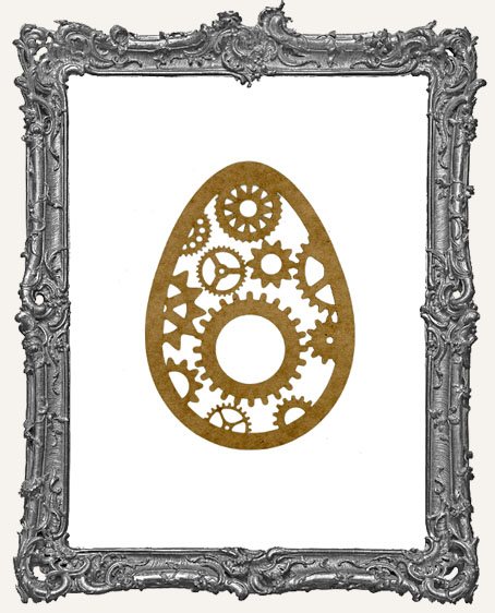 SMALL Steampunk Egg Mask Stencil