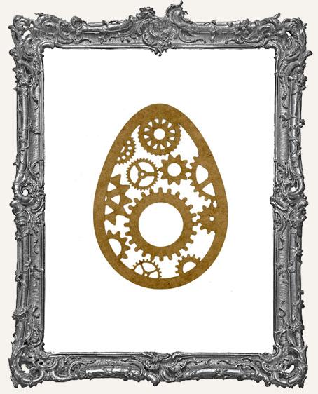 SMALL Steampunk Egg Mask Stencil
