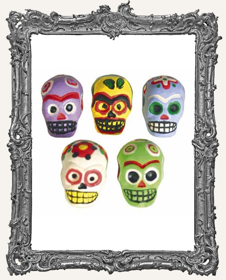Colorful Sugar Skull Bead