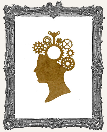 SMALL Steampunk Cameo Woman Mask Stencil