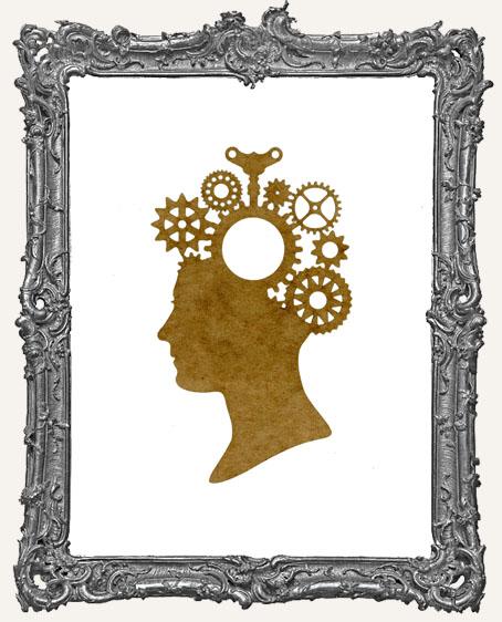 SMALL Steampunk Cameo Woman Mask Stencil