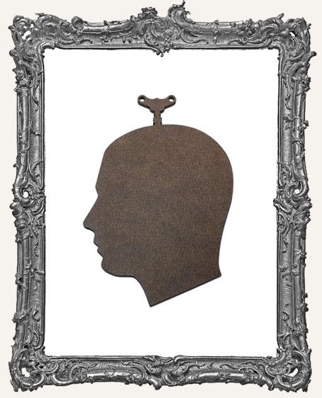 Masonite Steampunk Cameo Man Ornament - Basic