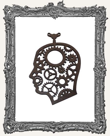 Layered Masonite Steampunk Cameo Man Ornament