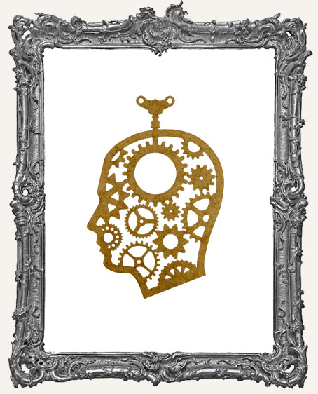 SMALL Steampunk Cameo Man Mask Stencil