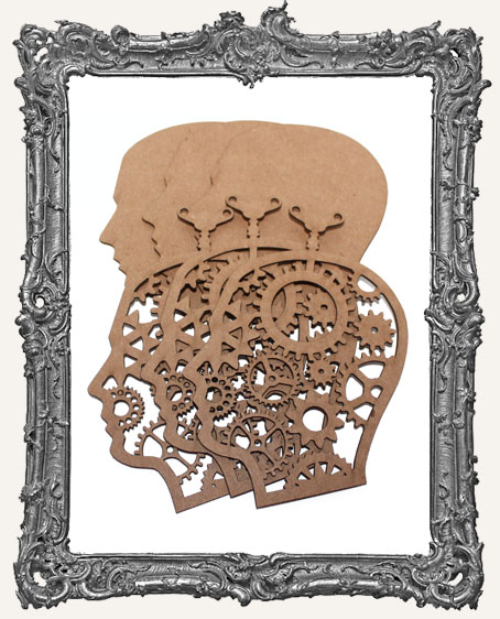 Chipboard Steampunk Cameo Man - Set of 3