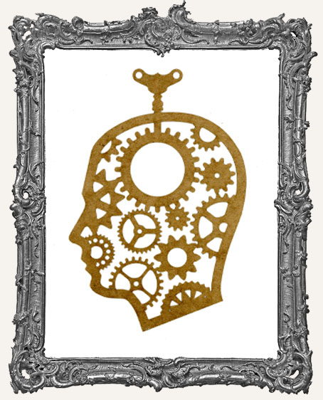 LARGE Steampunk Cameo Man Mask Stencil