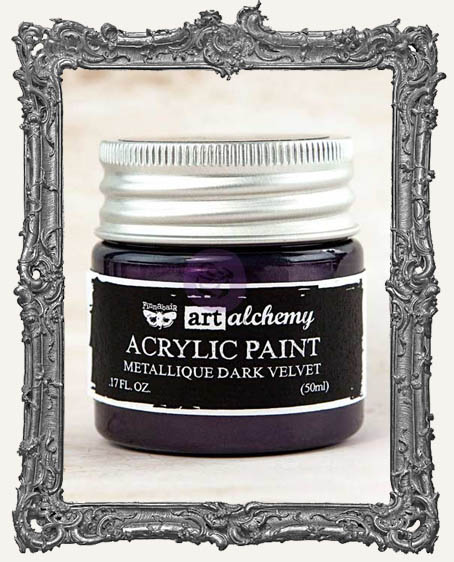 Finnabair - Art Alchemy - Metallique Acrylic Paint - Dark Velvet