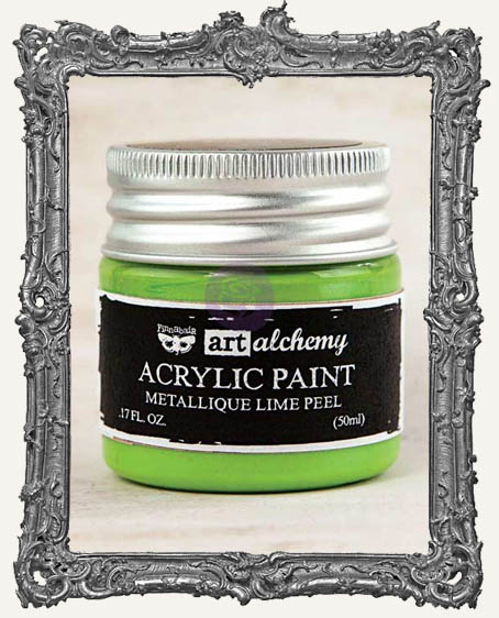 Finnabair - Art Alchemy - Metallique Acrylic Paint - Lime Peel