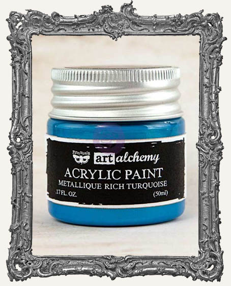 Finnabair - Art Alchemy - Metallique Acrylic Paint - Rich Turquoise