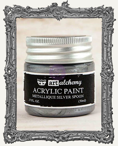 Finnabair - Art Alchemy - Metallique Acrylic Paint - Silver Spoon