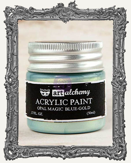 Finnabair - Art Alchemy - Acrylic Paint - Opal Magic - Blue-Gold