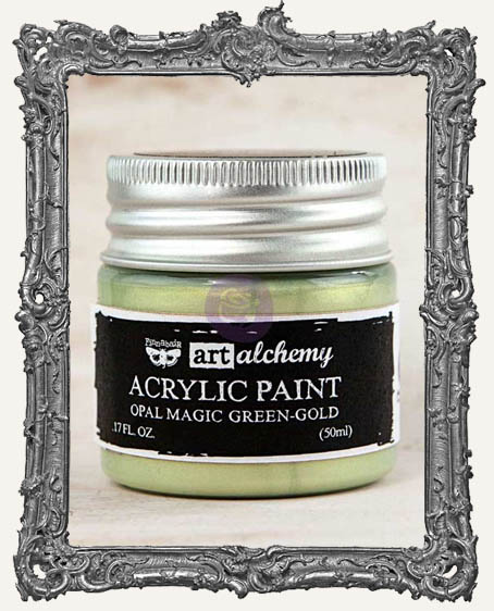 Finnabair - Art Alchemy - Acrylic Paint - Opal Magic - Green-Gold