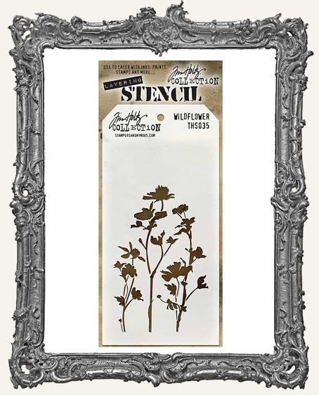 Tim Holtz Layering Stencils - WILDFLOWER
