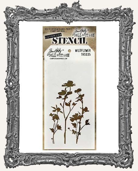 Tim Holtz Layering Stencils - WILDFLOWER