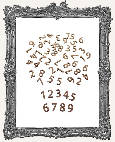 Tiny Chipboard Numbers - 50 Pieces