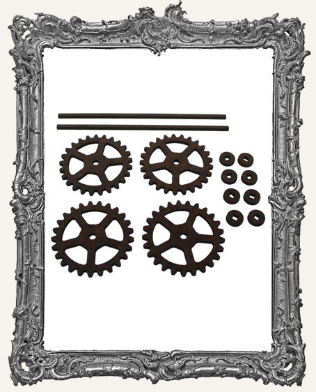 Gear Style Rolling Wheels Set - LARGE