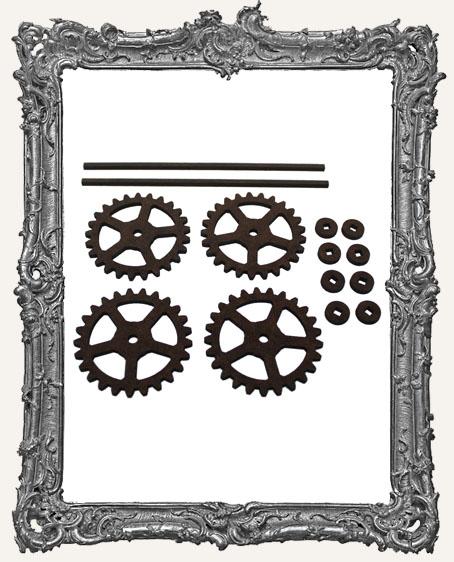 Gear Style Rolling Wheels Set - LARGE