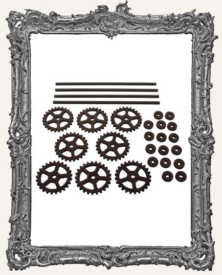 Gear Style Rolling Wheels Set - MEDIUM