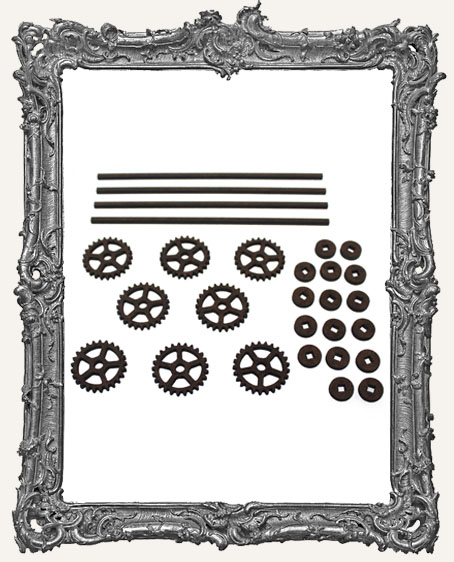 Gear Style Rolling Wheels Set - SMALL