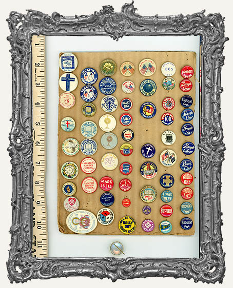 Vintage Metal Button Pin Collection - Set 2