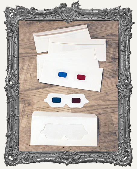 Vintage 3D Glasses Envelopes - Set of 10