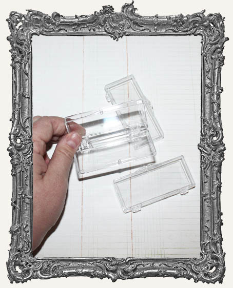 Small Rectangular Clear Plastic Cases - Set of 3