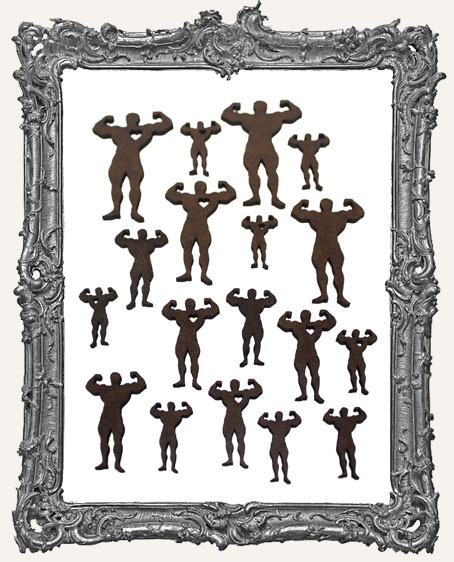 Circus Muscle Man Cut-Outs - 18 Pieces