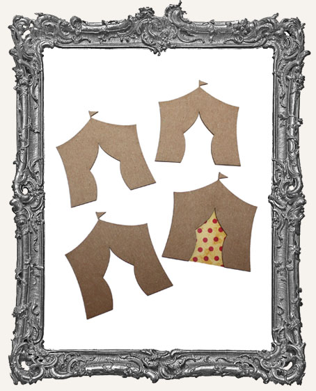 Chipboard ATC Size Circus Tents - Set of 4