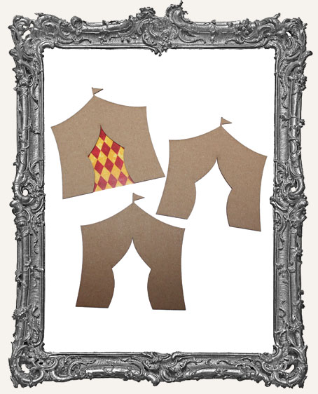 Chipboard Medium Circus Tents - Set of 3