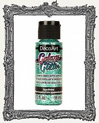 DecoArt Galaxy Glitter Acrylic Paint 2oz - Aqua Meteor