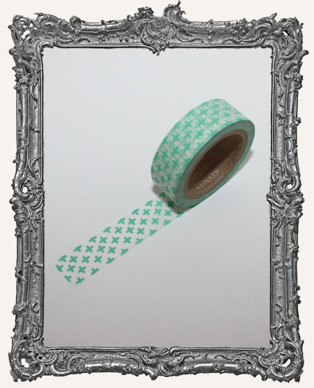 Washi Tape - Aqua Cross Pattern